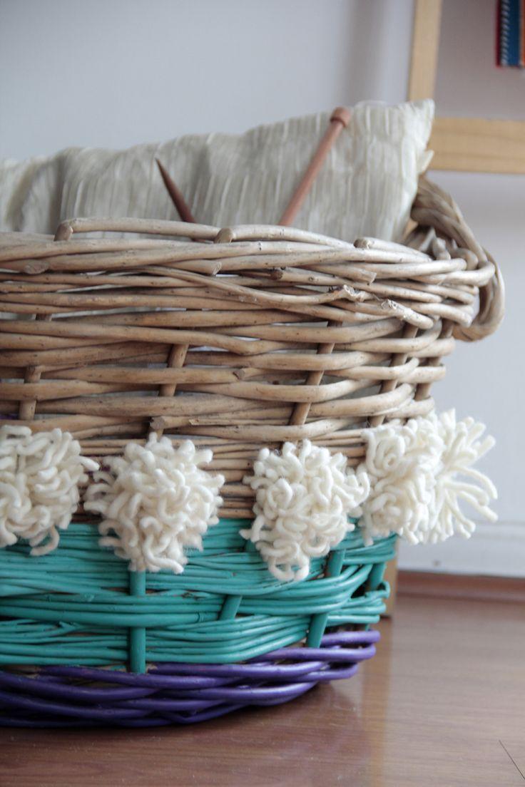 DIY colorful basket - canasto de colores