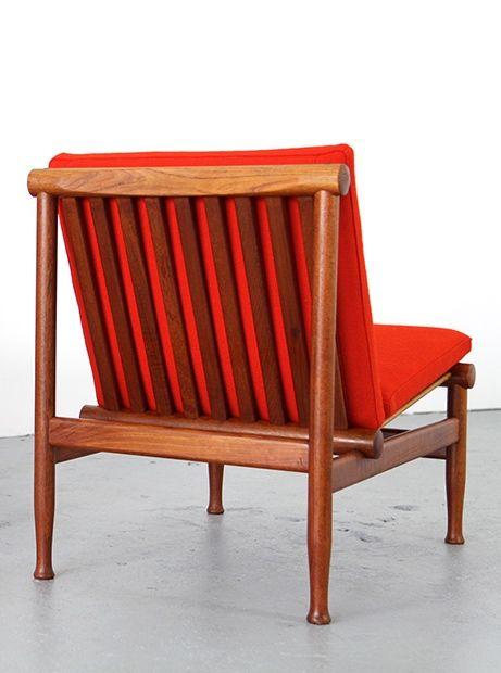 Kai Lyngfeldt Larsen; Teak Lounge Chair for Søborg Møbelfabrik, 1960s.