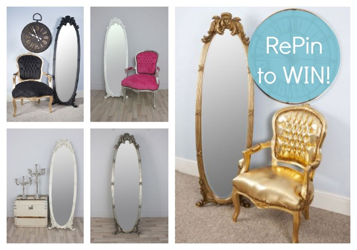 RePIn to win a Cheval Mirror in the colour of your choice! There are 5 colours to choose from and 3 ways to enter! Good Luck! vintagevibe.co.uk