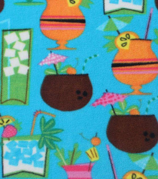 "Anti-Pill Fleece Fabric 59""-Summer Drinks"
