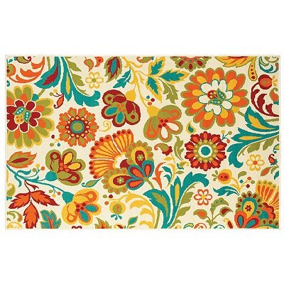 LOVE this rug for the deck~  it's just like my ink ;) Shaw Living Al Fresco Floral Indoor Outdoor Patio Rug