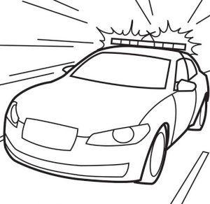 Gambar Mewarnai Mobil Polisi Gambar Mewarnai Kendaraan Cars