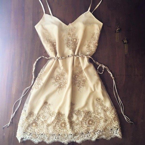 vestido corto bordado para fiestas verano 2016 Love Pajaro:
