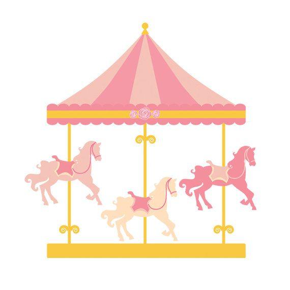 Carousel clipart - merry go round clip art, carnival clip art, fair, horses…