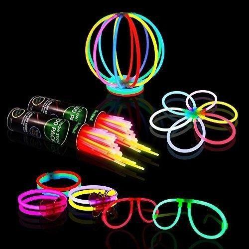 Halloween Party Supplies Glow Sticks Happy Birthday Party Bracelets Necklaces #OpportunityBestDealGlowSticks