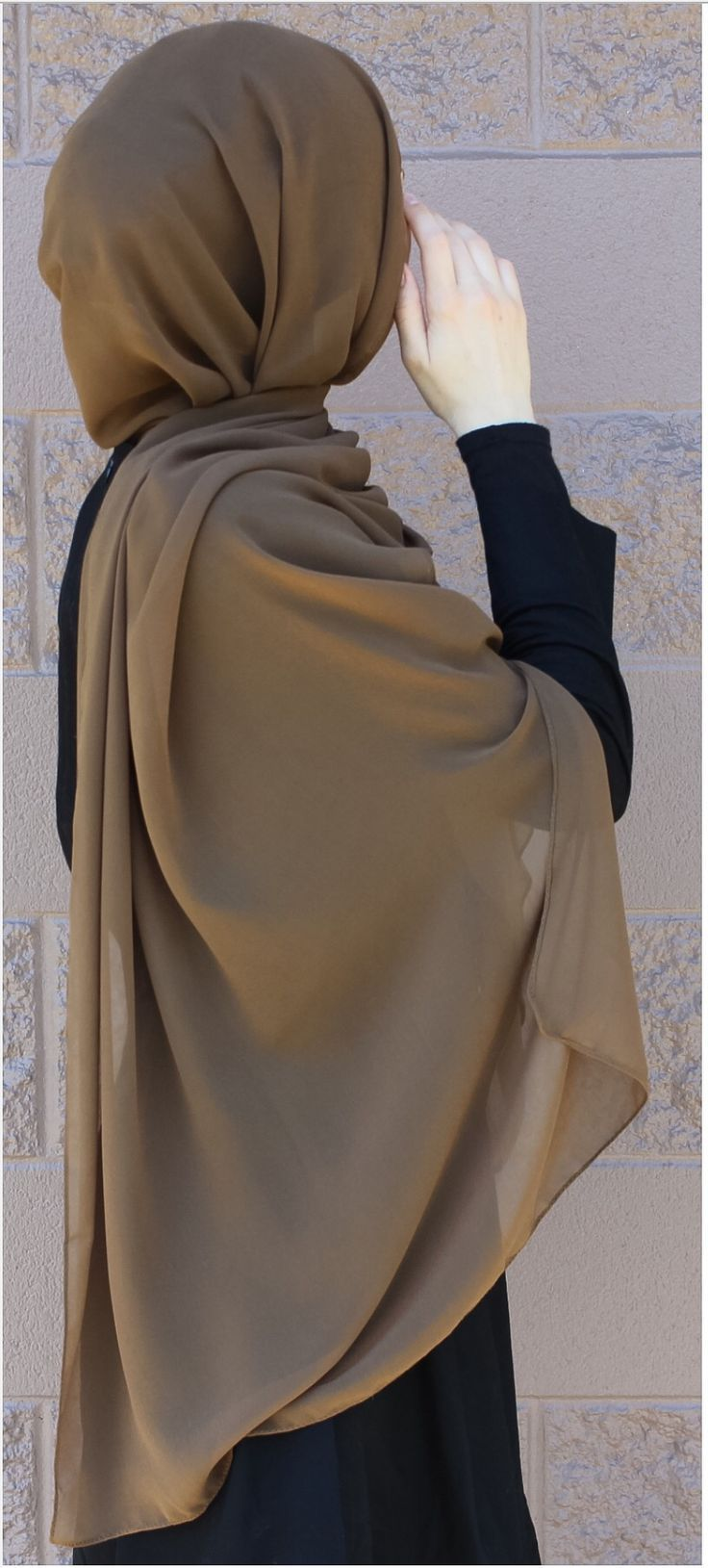 Hijab Fashion 2016/2017: Luxurious chiffon hijab from www.thehijabcity.com. FREE US shipping