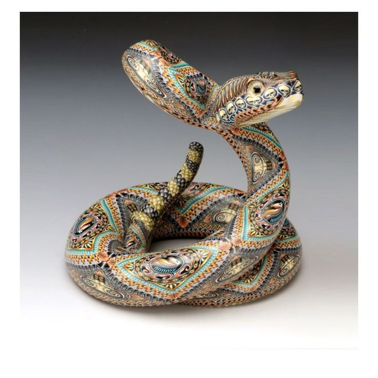 Rattle Snake Sculpture | Mama | Clay | FimoCreations