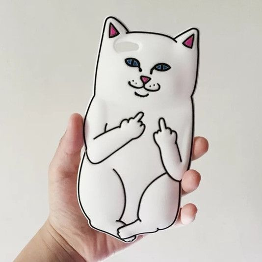 sports shoes ad59b 42293 Adorable Ripndip Cat Lord Nermal Silicone iPhone6, iPhone 7/7 Plus ...