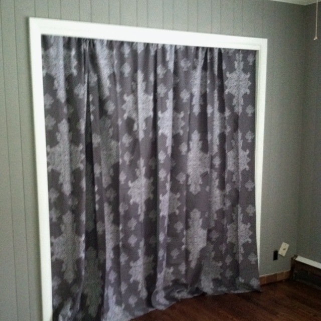 curtains instead of closet doors bedroom. Black Bedroom Furniture Sets. Home Design Ideas