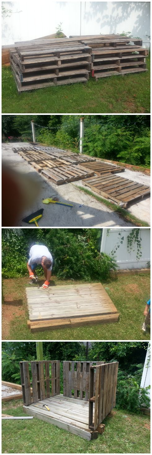 Build a fort with pallet board