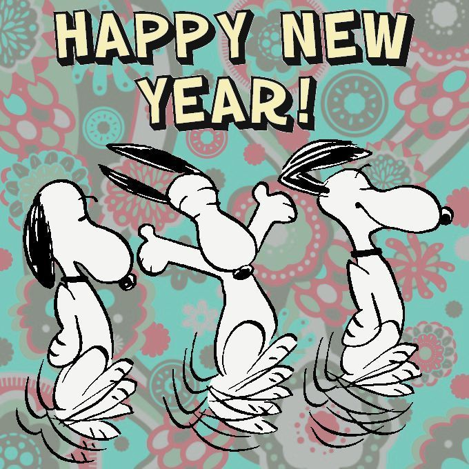 Dancing Happy New Year Snoopy