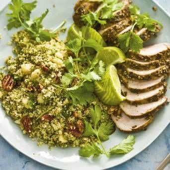 Couscous met varkenshaas, broccoli en Original Spices Za'atar. Zo waan je je binnen no time in Oosterse sferen!