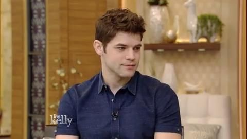 Jeremy Jordan on Live with Kelly to promote Newsies in the cinema. #NewsiesForever