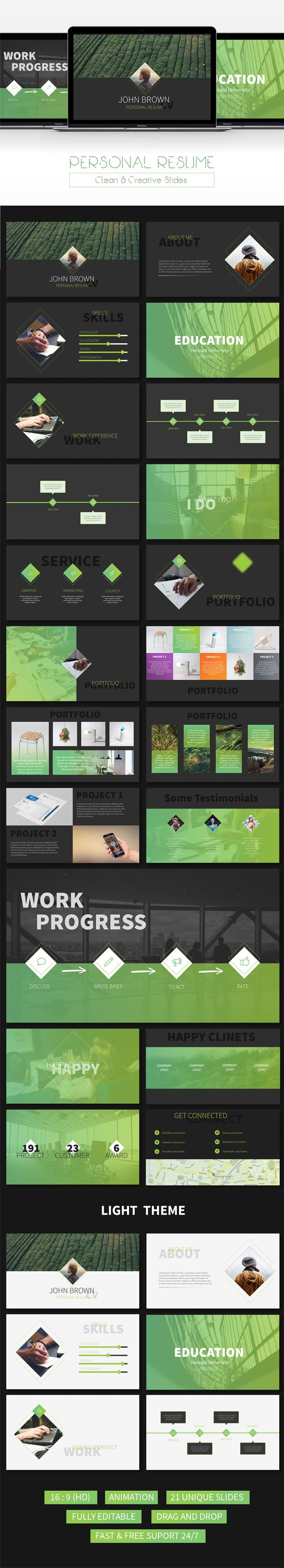 Premium Powerpoint Template http://graphicriver.net/item/resume-creative-powerpoint-template/15403025