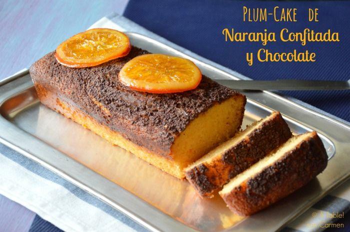 Plum-Cake de Naranja Confitada y Chocolate