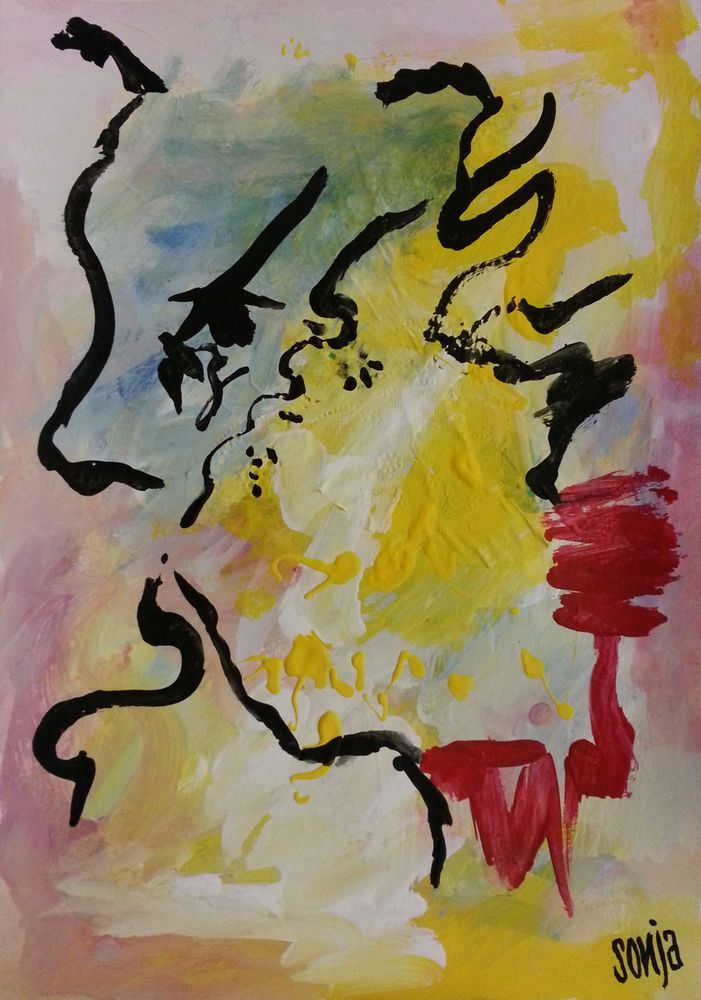The face of sorrow - Abstract art #Abstract