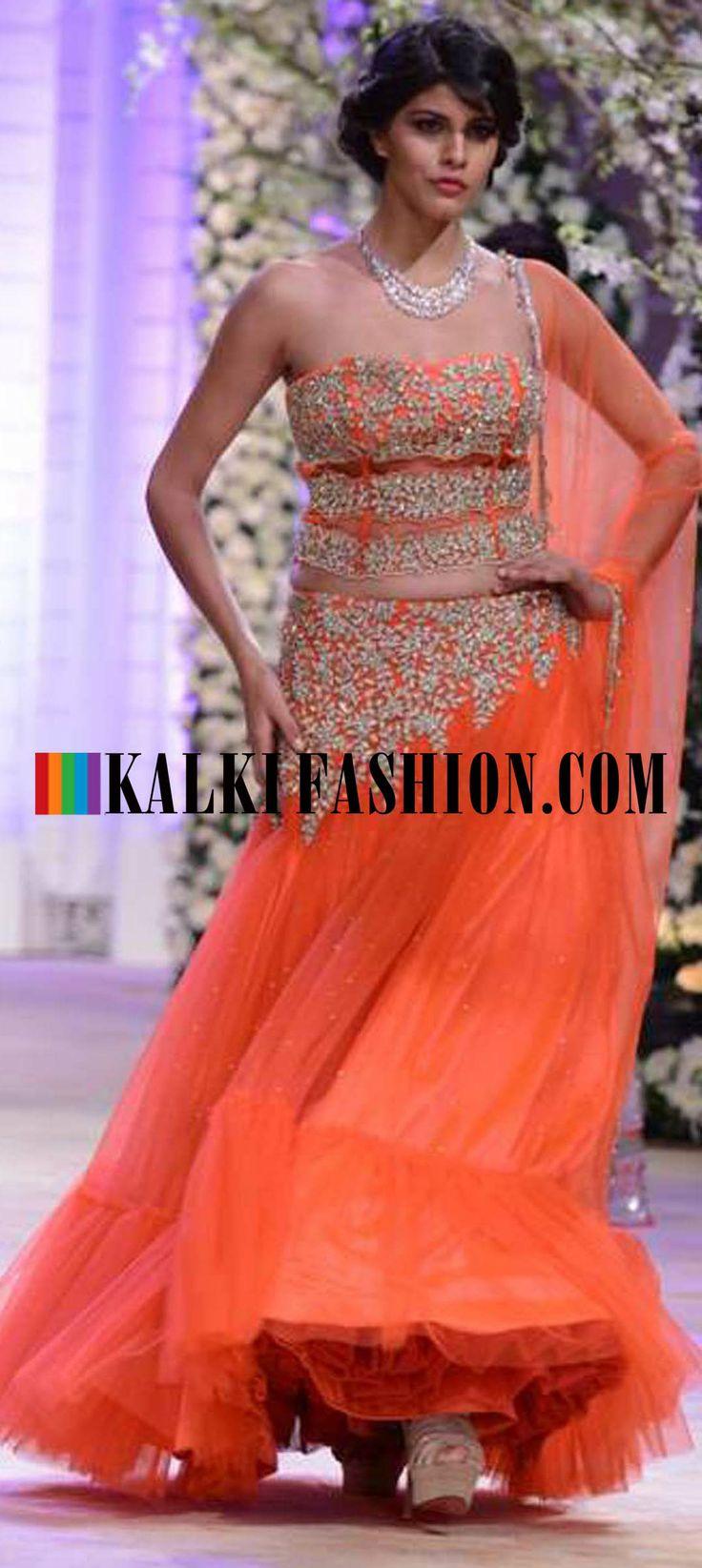 http://www.kalkifashion.com/designers/jyotsna-tiwari.html Urnashi Rautela and other models walk the ramp for Jyotsna Tiwari at Indian Bridal Week NOV 2013 at Mumbai 51