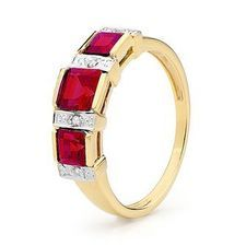 Royal Ruby and Diamond Eternity Ring - BEE-25371-CR