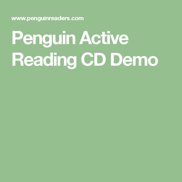 Penguin Active Reading CD Demo