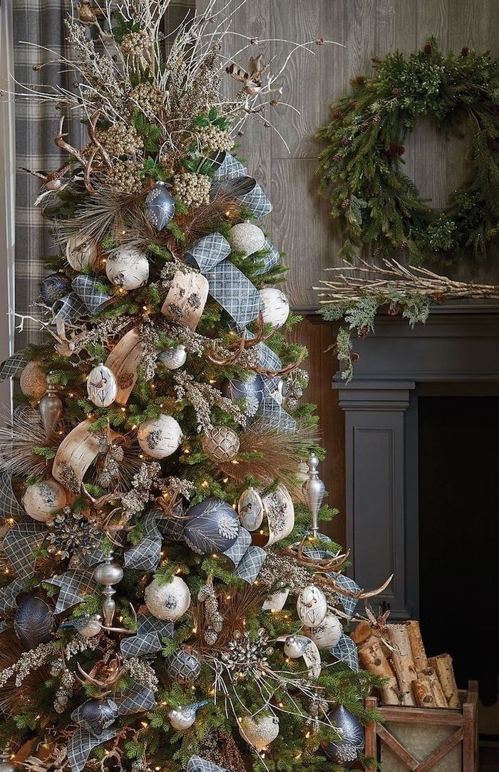 Google Image Result In 2020 Rustic Christmas Tree Christmas Tree Decorations Colorful Christmas Tree