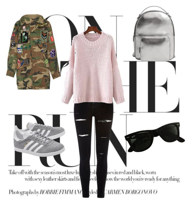 """Untitled #43"" by evachrisomalli-1 on Polyvore featuring adidas Originals, River Island, MANGO, Marc Jacobs and Ray-Ban"