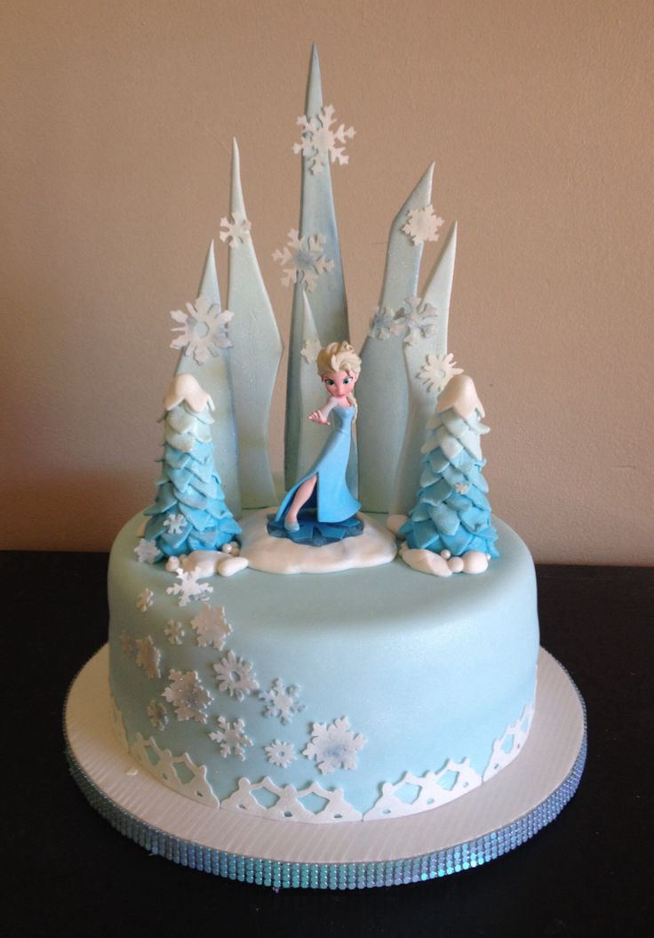 Elsa Birthday Cake Decorations Prezup for