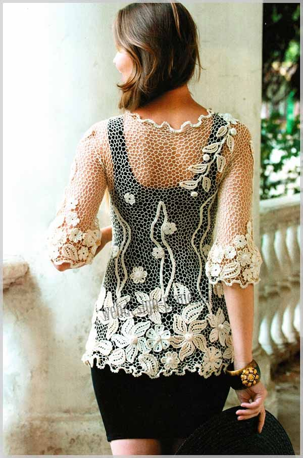 Irish Crochet - blouse 2/7