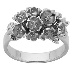 KW silver flowers ring