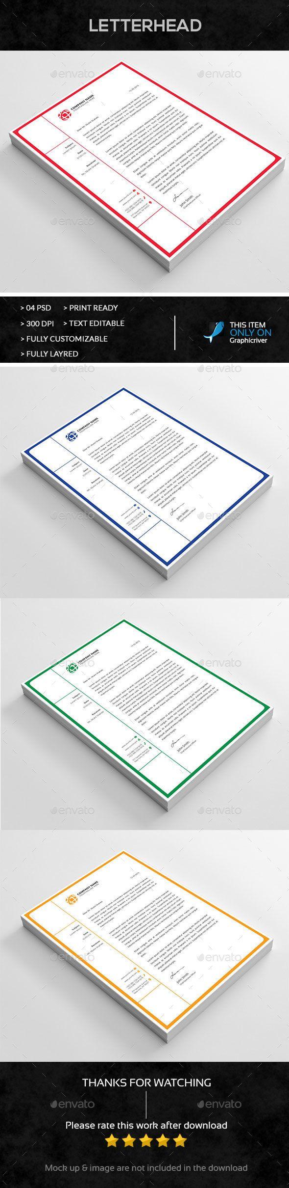 Letterhead Stationery Print Templates 209 best