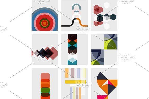 Set of blank minimal geometrical templates. Best Textures