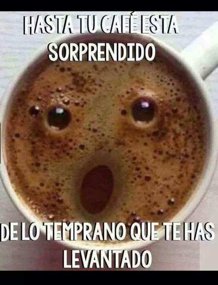 Hasta tu café está sorprendido de lo temprano que te has levantado