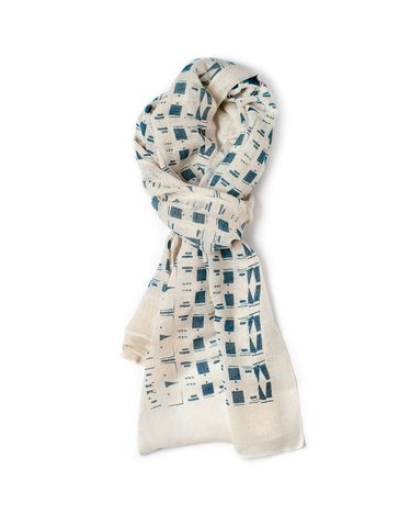 LEE COREN BLOCK COTTON GAUZE SCARF