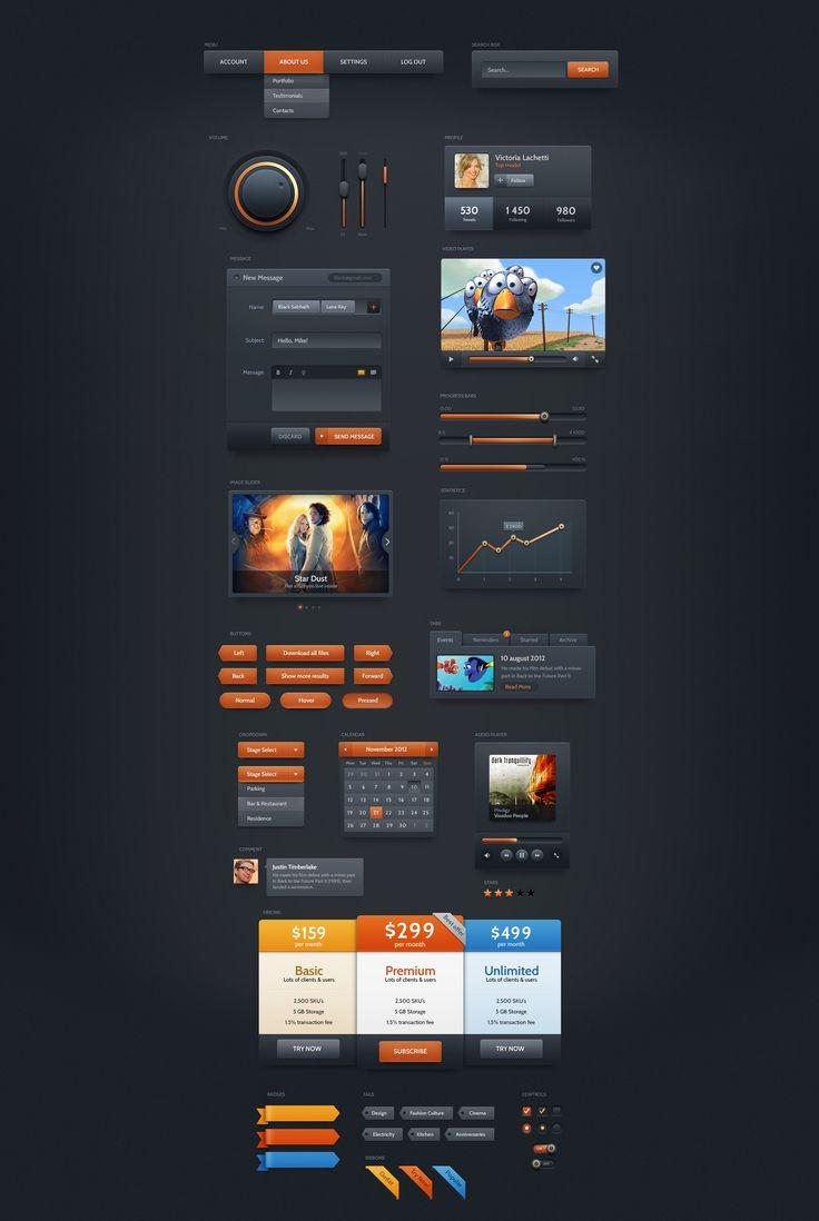 Dark Velvet - Dark UI Kit Demo | PixelKit