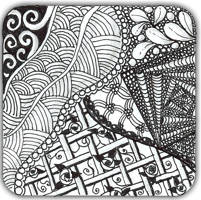 Lori second zentangle by lacefairy1, via Flickr