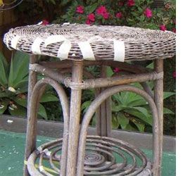 18 best images about porch ideas on pinterest christmas for Recover wicker furniture