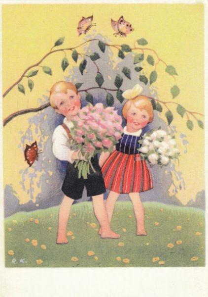 Illustration by Finnish illustrator and painter Rudolf Koivu (1890-1946)