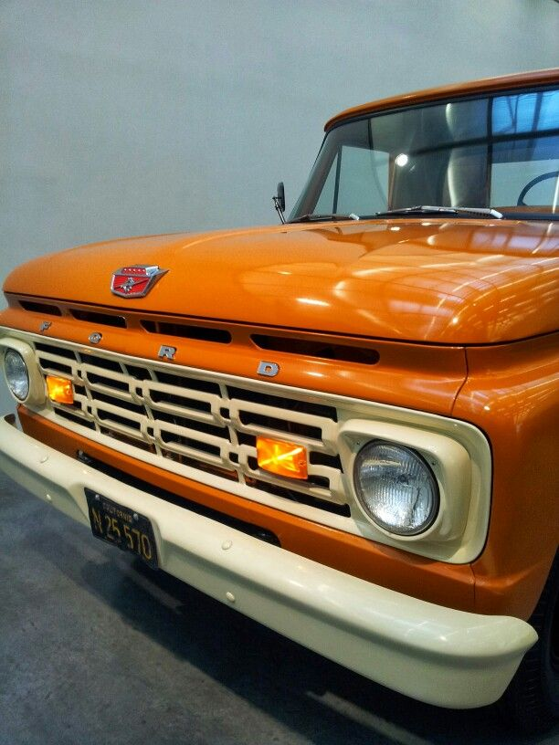 '1 Ton Crane Truck', restored 1964 F350 Ford, the #NewMuseum, #NY