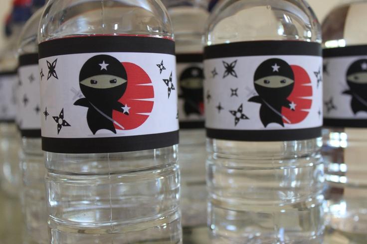 Ninja Printable Water Bottle Labels PDF. $7.00, via Etsy.