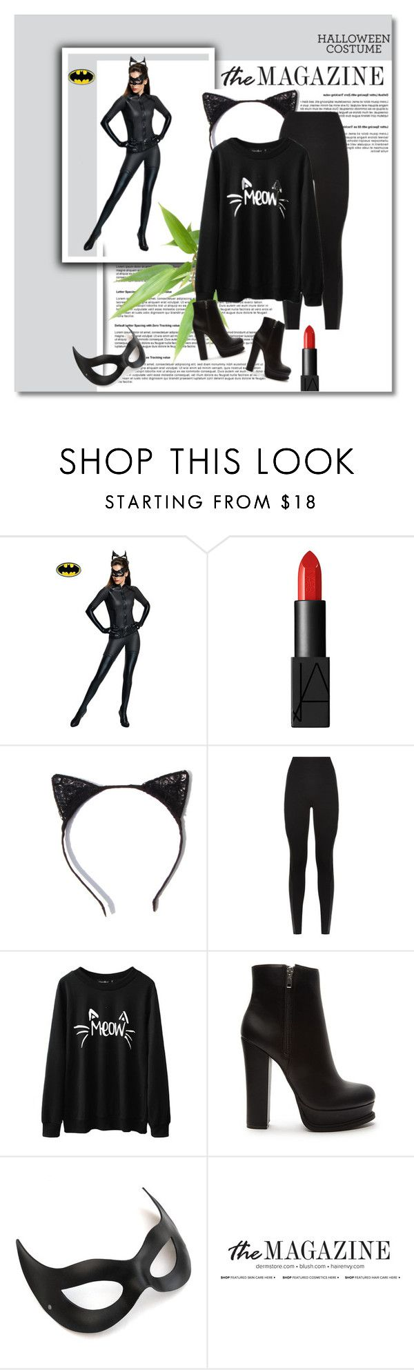 """""""DIY Cat Costume"""" by michufrid ❤ liked on Polyvore featuring Rubie's Costume Co., NARS Cosmetics, SPANX, Forever 21 and halloweencostume"""