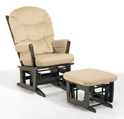 Modern Glider Chair w Ottoman (Beige) [ID 819258]