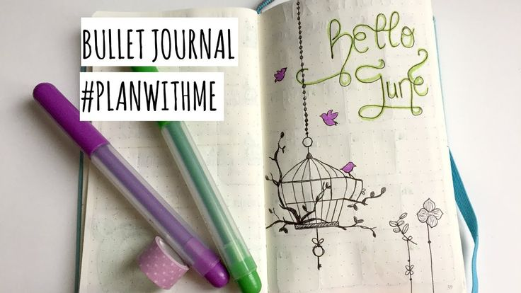 PLAN WITH ME #3 | Bullet Journal (JUNE 2017)