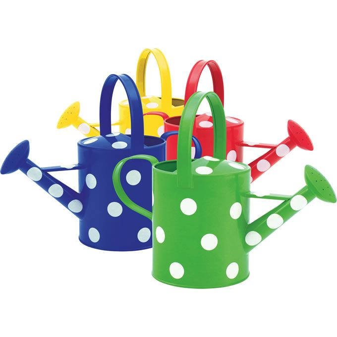 pictures of watering cans   Set of 4 Watering Cans with Polka Dots   Behrens Manufacturing