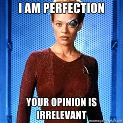 Seven of Nine - I am Perfection Your Opinion is irrelevant