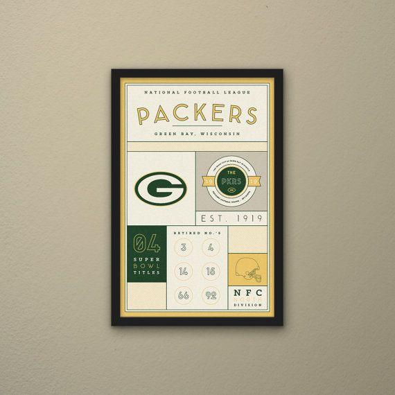 Green Bay Packers Stats Print by PortlySportsman on Etsy