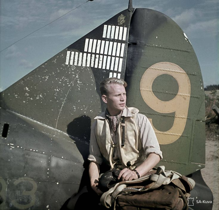 Brewster B-239 Buffalo with 33 1/2 victories and the pilot Lt. Hans Wind, Finland 1943