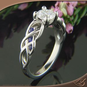 Beautiful Braided Mounting Jewelryworks Engagement