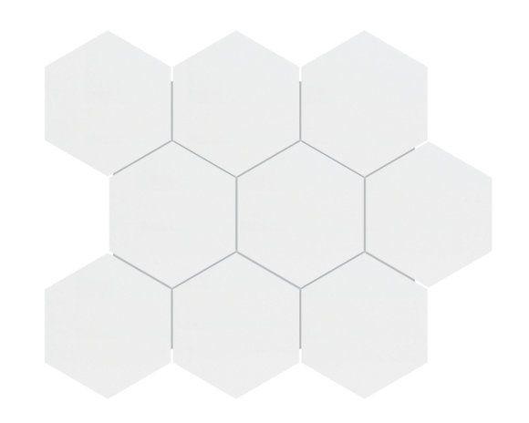 enigma 4 inch metro white matte hexagon