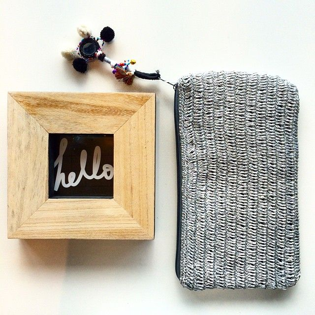 HELLO FRIDAY!!! I HAVE MISSED YOU  mesh clutch in silver $79 - hello frame $26.95 #marshmellowboutique #happy #friday #mesh #clutch #hello #wooden #fame #interiordesign #fashion #boho #tassel #instagashion