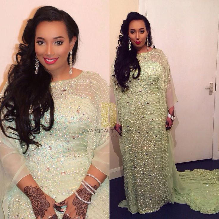 ❤️ stunning Somali bride ! Makeup by @divazbeautylondon | #BellaNaijaWeddings