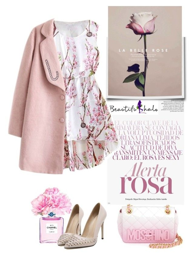 """beautifulhalo"" by iraavalon ❤ liked on Polyvore featuring Chanel, Moschino and bhalo"